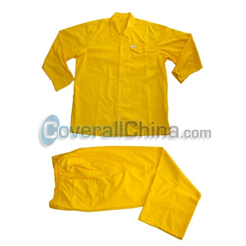 yellow work suits