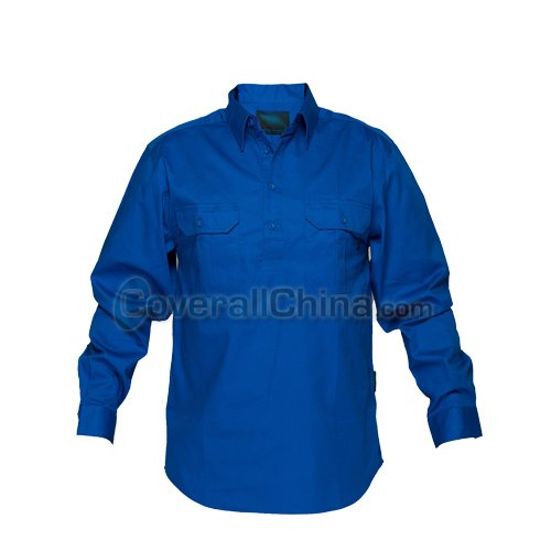 blue work shirts-WS012