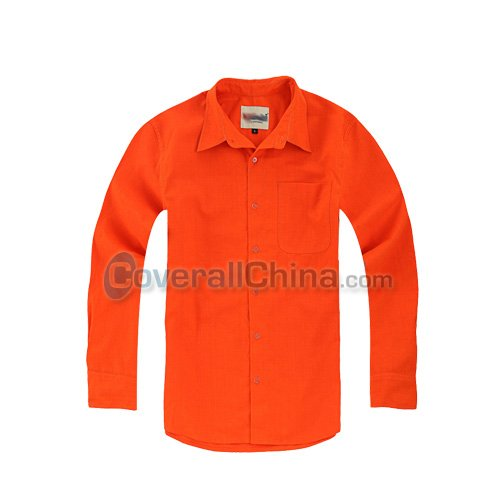 orange color work shirts- WS008